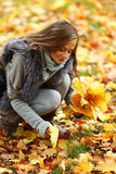 Autumn woman Stock Photos