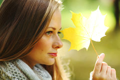 Autumn woman Royalty Free Stock Photography