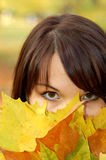 Autumn woman #2 Royalty Free Stock Image