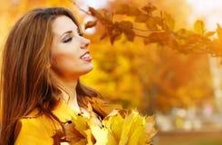 Autumn woman Stock Photography