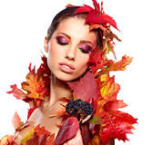 Autumn Woman. Royalty Free Stock Photography