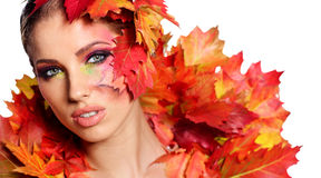 Autumn Woman. Royalty Free Stock Images