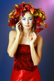 Autumn Woman Stock Photos