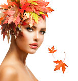 Autumn Woman Fotografia Stock