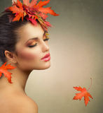 Autumn Woman stock afbeelding