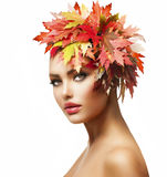 Autumn Woman Fotos de Stock Royalty Free
