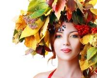 Autumn Woman Photo libre de droits