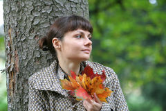 Autumn Woman 34 Stock Images