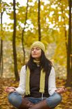 Autumn woman. Pretty girl and autumn rest Stock Image