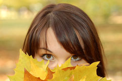 Autumn Woman 4 Royalty Free Stock Photography