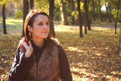 Autumn woman Stock Photo
