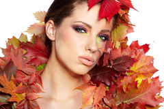 Autumn woman Royalty Free Stock Images
