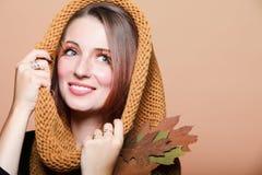 Autumn woman fresh girl glamour eye-lashes Royalty Free Stock Photo
