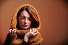 Autumn woman fresh girl glamour eye-lashes Royalty Free Stock Photos