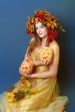 Autumn Woman Halloween Stock Images