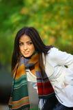 Autumn woman looking Stock Image