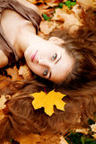 Autumn woman. Woman in the autumn park Stock Photo