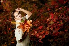 Autumn woman. Royalty Free Stock Photo