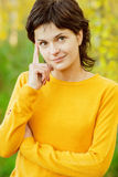 Autumn woman in park Royalty Free Stock Photos