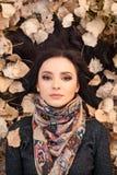 Autumn woman portait Stock Photo