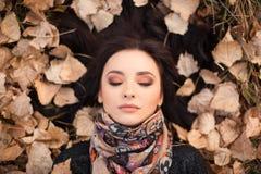 Autumn woman portait Royalty Free Stock Images