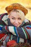 Autumn woman portrait Stock Photography