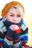 Autumn woman portrait Royalty Free Stock Images