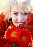 Autumn woman portrait Stock Image