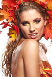 Autumn woman portrait Stock Photography