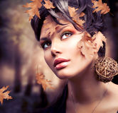 Autumn Woman Portrait stock photos