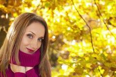 Autumn woman portrait royalty free stock photography