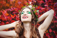 Autumn Woman Portrait. Fotografie Stock