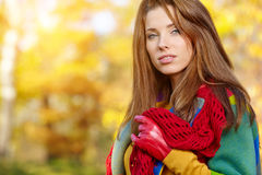 Autumn Woman Portrait Fotografia de Stock Royalty Free