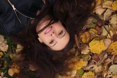 Autumn Woman Portrait Imagenes de archivo