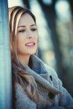 Autumn Woman Portrait Fotografia de Stock