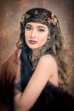 Autumn Woman Portrait Fotografia Stock Libera da Diritti