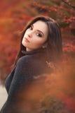Autumn Woman Portrait royaltyfria foton