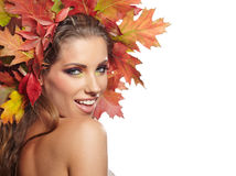 Autumn Woman portrait Stock Image