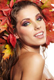 Autumn Woman portrait Royalty Free Stock Photos