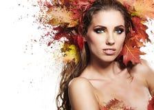 Autumn Woman portrait Royalty Free Stock Photos