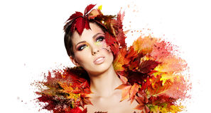 Autumn Woman portrait Royalty Free Stock Image