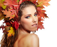 Autumn Woman portrait Stock Images