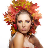 Autumn Woman portrait Royalty Free Stock Photo