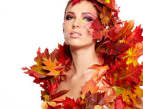 Autumn woman portrait Stock Photo