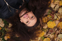 Autumn woman portrait Stock Images