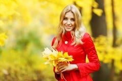 Autumn woman Royalty Free Stock Photos