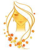 Autumn women Royalty Free Stock Photos
