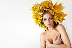 Autumn women. Royalty Free Stock Image