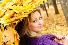 Autumn women Royalty Free Stock Photo