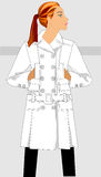 Autumn women's clothing. Fashion autumn women's clothes. Series of sketches Royalty Free Stock Images